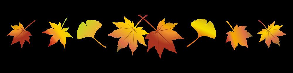 紅葉の葉っぱのライン