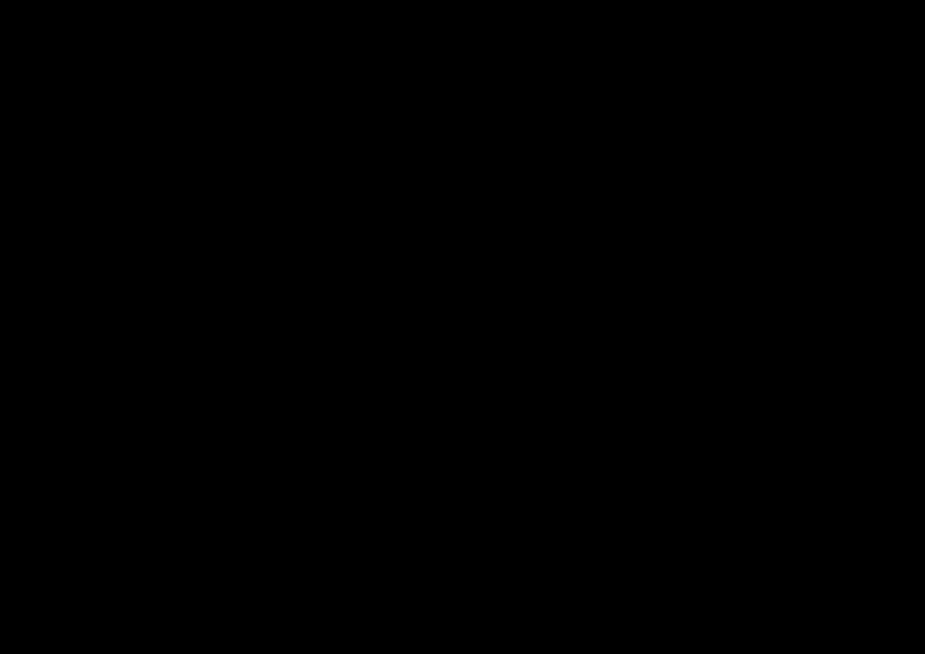 ト音記号のシンプルフレーム枠