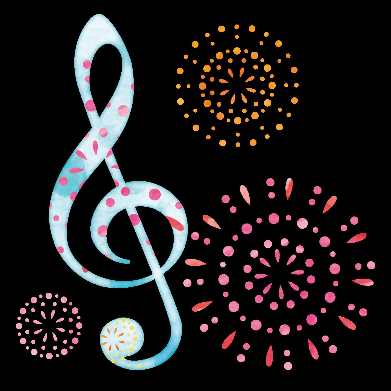 商用利用可能な音楽のイラスト素材