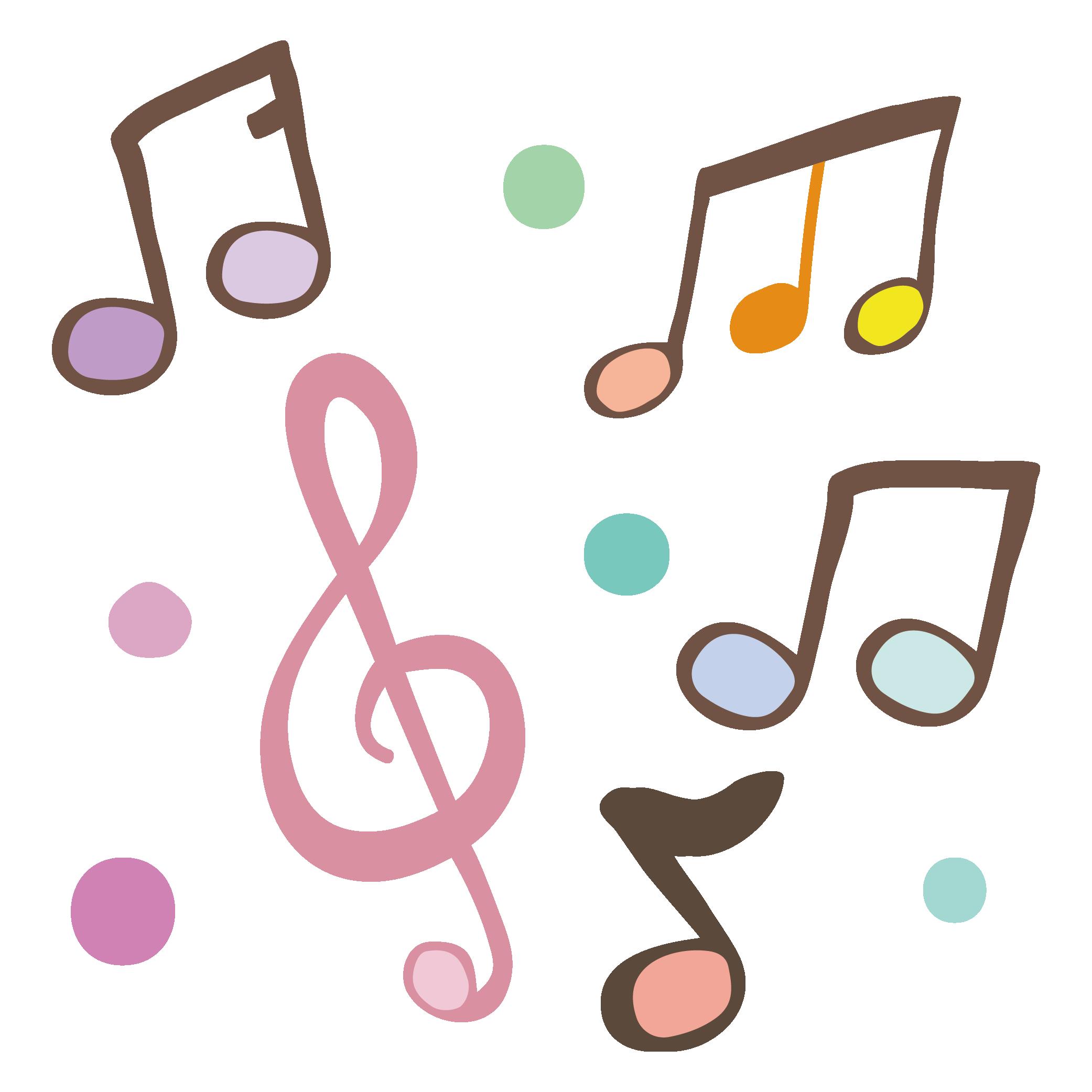 かわいい音符のイラスト