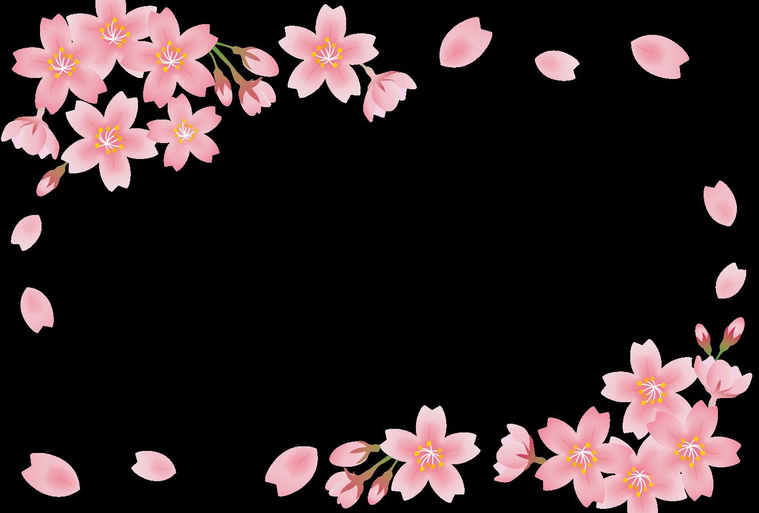 春におすすめの商用利用可能な無料フレーム・枠素材
