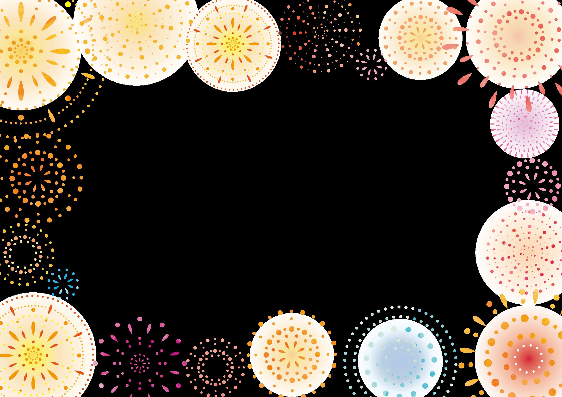 花火のフレーム・枠