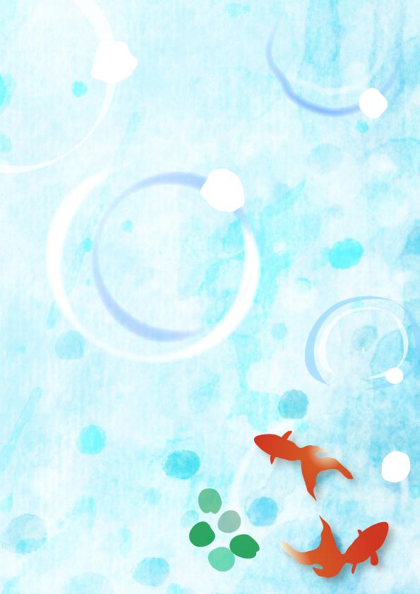 泳ぐ金魚のイラスト