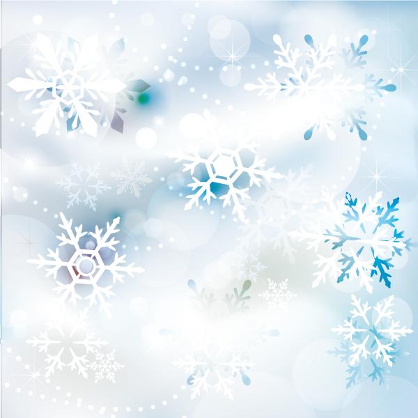 雪の結晶の背景イラスト