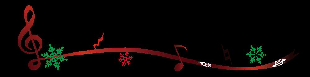 ト音記号とクリスマスのライン